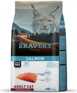 Vzorky VZOREK - BRAVERY  cat  STERILIZED SALMON    - 70g