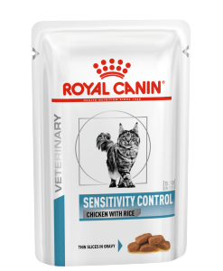 Kapsy Royal Canin Veterinary Health Nutrition Cat Sensitivity Control Chicken & Rice Pouch - 85g