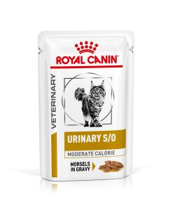 Kapsy Royal Canin Veterinary Health Nutrition Cat Urinary Moderate Calorie Pouch in Gravy - 85g